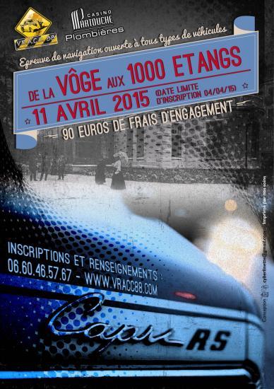 RALLYE CLUB / VHC (REGULARITE ET NAVIGATION) : DE LA VÔGE AUX 1000 ETANGS